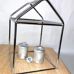 Domek druciany HOUSE chrom