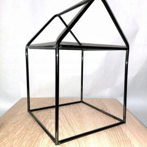 Ekskluzywny czarny nikiel domek